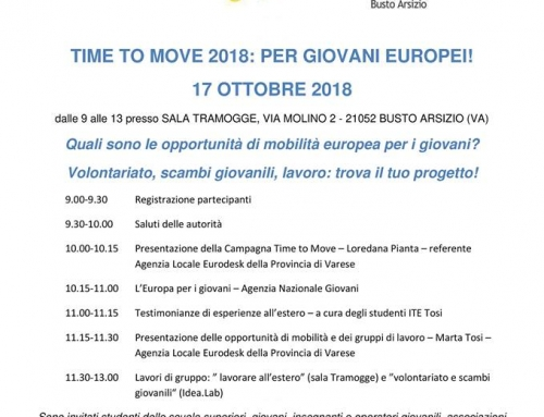 Time to move: 17 ottobre 2018